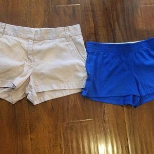 2 Pairs Women Shorts Size Medium & 8